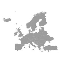 High quality map europe with borders the vector