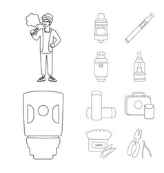 Isolated object nicotine and filter icon set vector