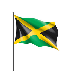 jamaica flag on a white vector image