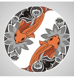 Japanese decorative KOI vector