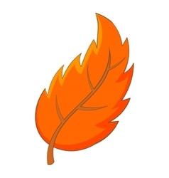 Leaf icon cartoon style vector image