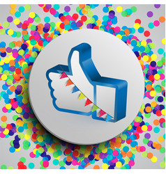 like button for webpages vector image