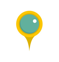 Locate pin icon flat style vector
