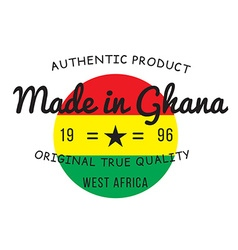 Made in Ghana stamp vector