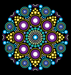Mandala art australian dot painting design vector