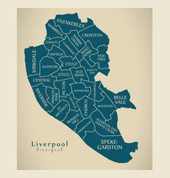 Modern city map - liverpool city of england with vector