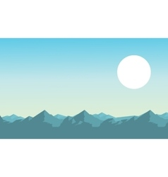 Mountain with sun of landscape vector image