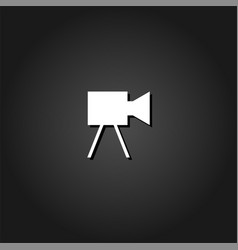 movie camera icon flat vector image