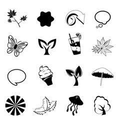 nature design elements vector image