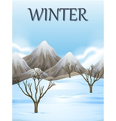 Nature scene in winter vector image