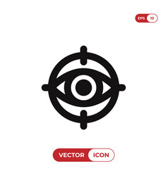 Objective searching icon vector