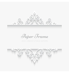 Paper swirly frame vector
