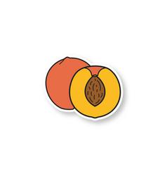 Peach patch vector