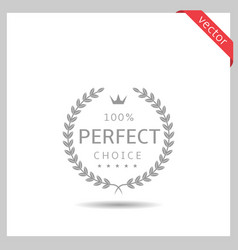perfect choice icon vector image