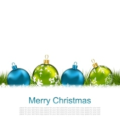 Postcard with Chrismas Colorful Balls vector