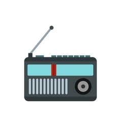 Radio receiver icon in flat style vector image