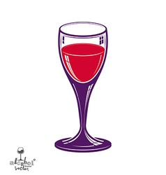 Realistic 3d wineglass beverage theme vector