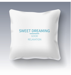 realistic white pillow isolated on white vector image