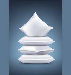 realistic white pillows vector image