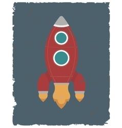 retro design poster rocket vector image