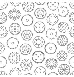 seamless background with gear wheels vector image