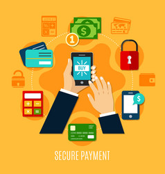 Secure payment round composition vector
