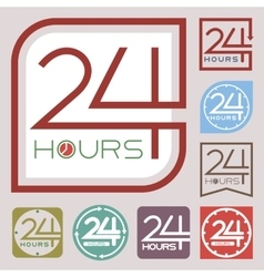 Service and support sign 24 hours a day vector image