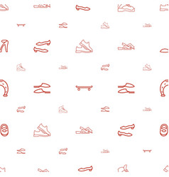 Shoe icons pattern seamless white background vector