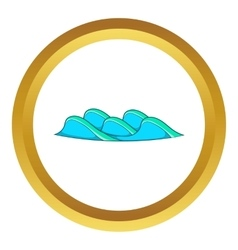 Small sea wave icon vector