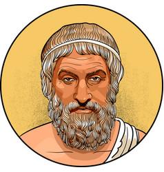 Sophocles line art portrait vector