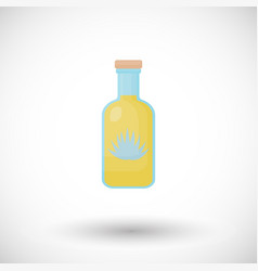 tequila bottle flat icon vector image
