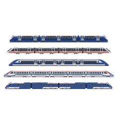 trains railway wagon metro rail subway transport vector image