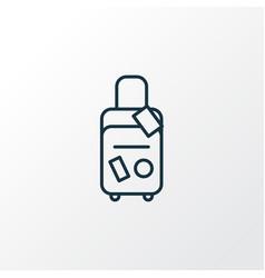 travel bag icon line symbol premium quality vector image