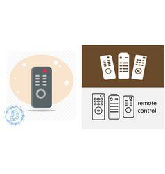 Tv remote control isolated icon appliances design vector
