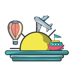 vacation and travel vector image