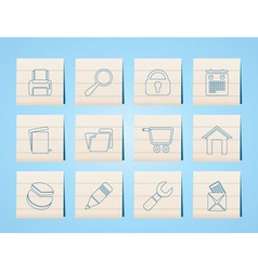 website and computer icons vector image