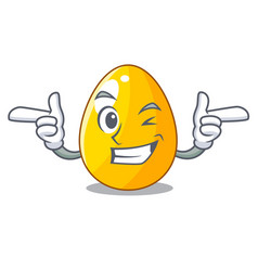 Wink golden eggo on isolated image mascot vector