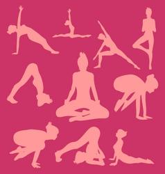 Yoga Pose Woman Digital Clipart 2 vector image