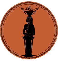 Zodiac in style ancient greece virgo woman vector