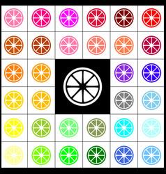 fruits lemon sign felt-pen 33 colorful vector image vector image
