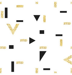 Gold geometric seamless pattern template for vector image vector image