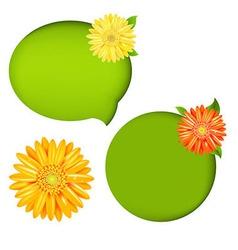 Nature Speech Bubbles vector image