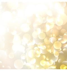 Beautiful defocused golden background vector image