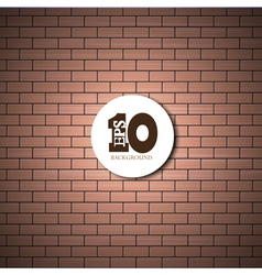 brick wall background with place for your text vector image
