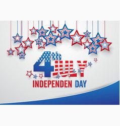 independence day 4 th july happy independence day vector image