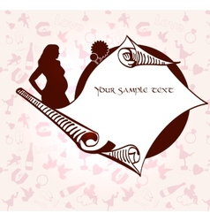 Romance and pregnancy medallion vector image