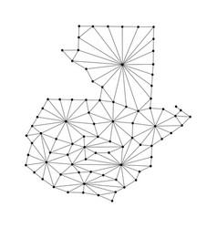 guatemala map of polygonal mosaic lines network vector image vector image