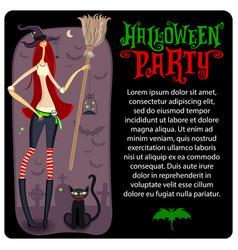 halloween witch template halloween series vector image vector image