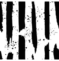 Hand darwn black ink line and splash vector image
