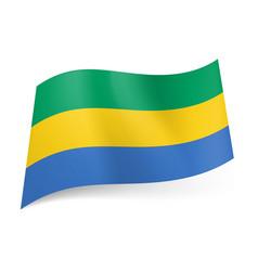national flag of gabonese republic green yellow vector image vector image